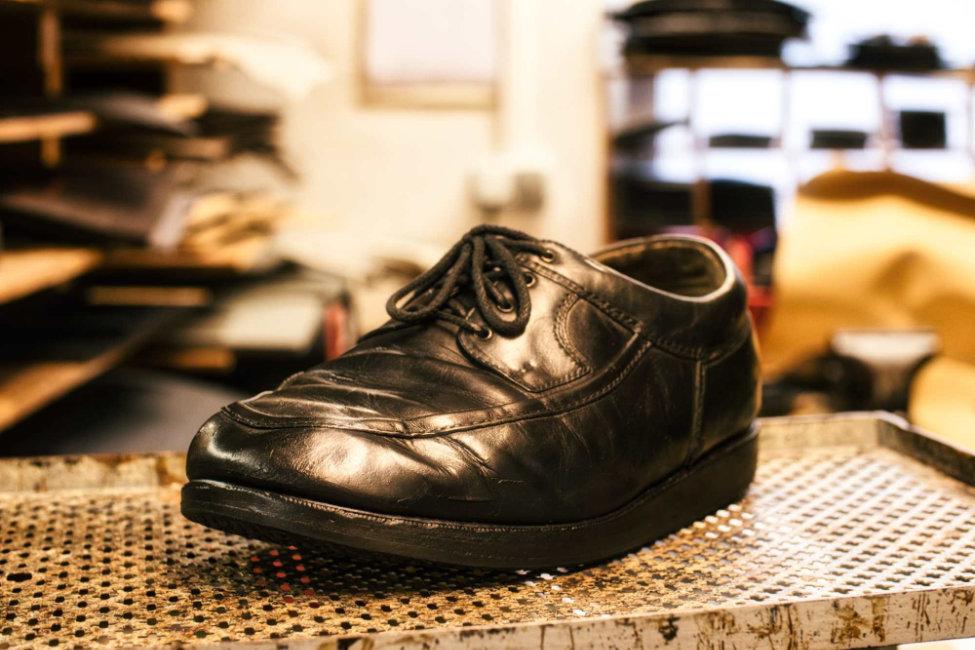 Schuhreparatur Leder nachher